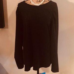 Plus Size EVRI Shirred Sleeves Raglan Top